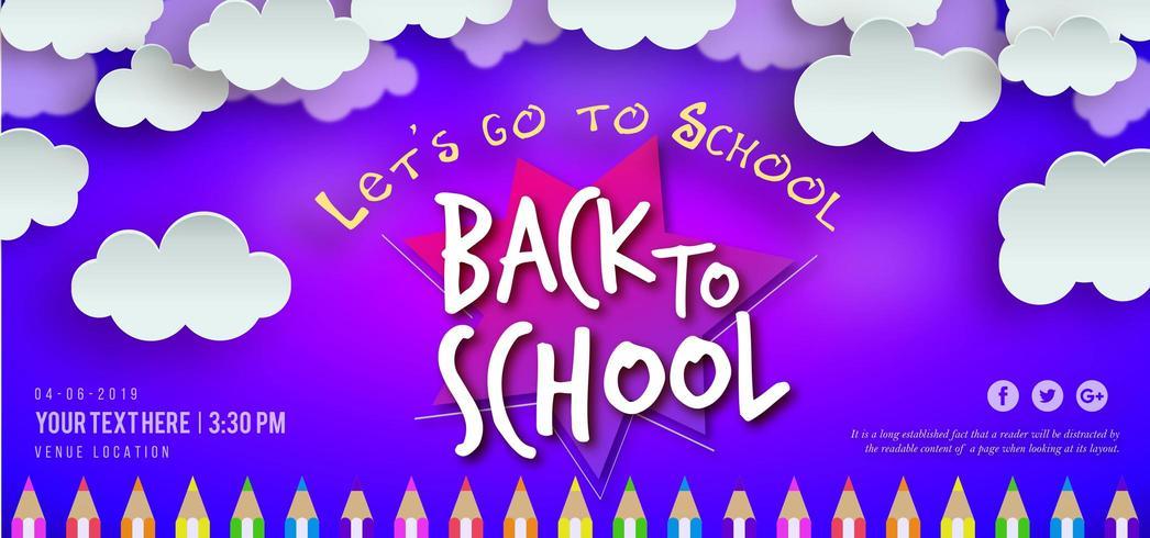 Banner de volta à escola