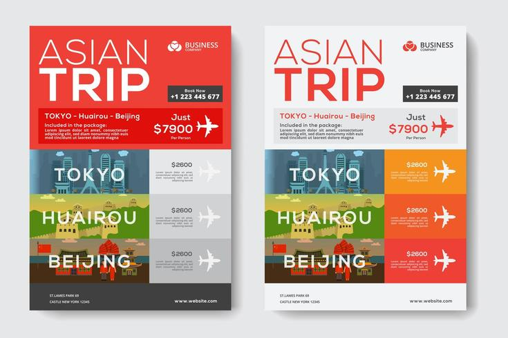 Corporate Business Template with Asian Travel Theme