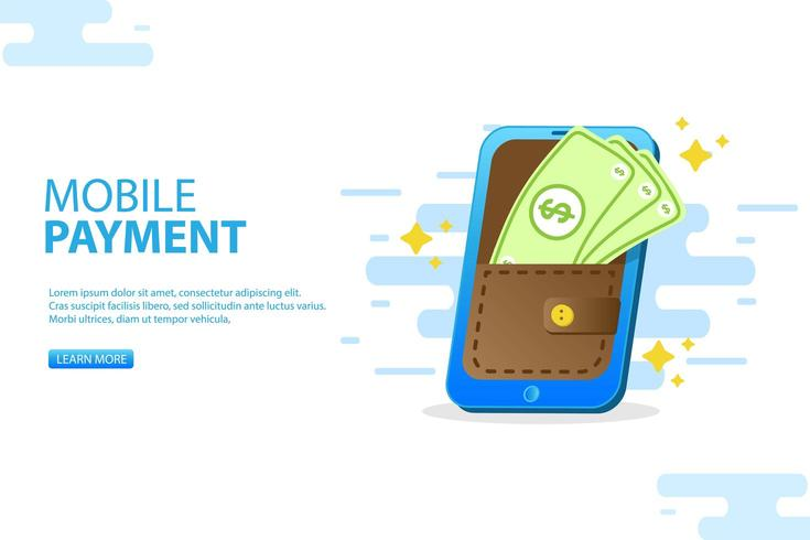 smart phone payment. smart phone using contactless payment