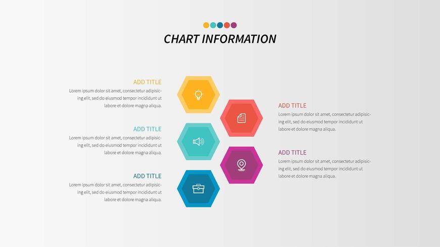 Infográfico de negócios de 5 etapas