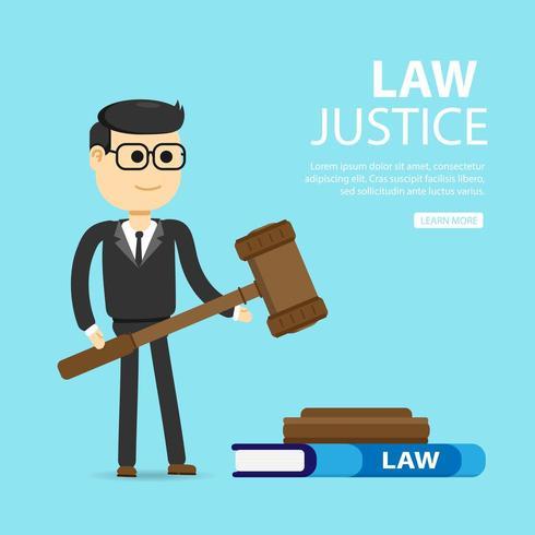 Lawyer holding gavel