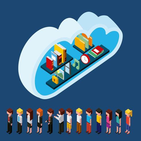 archiviazione cloud computing persone