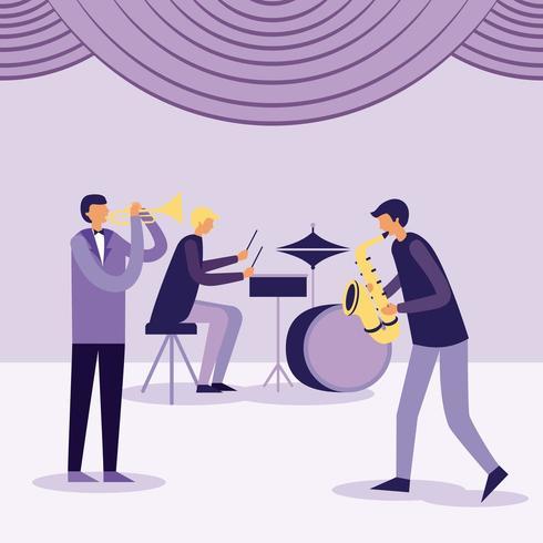 paerformance della band jazz vettore