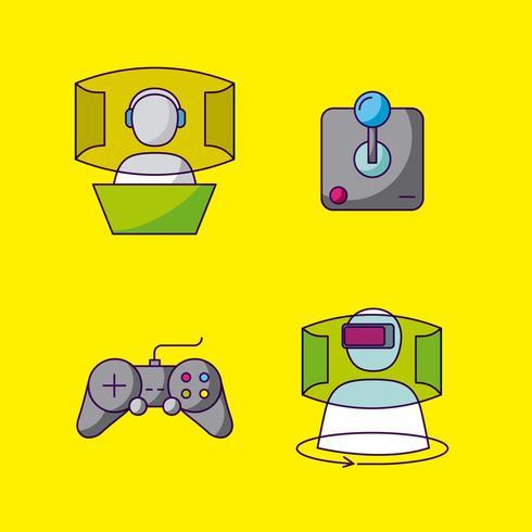 video games design set