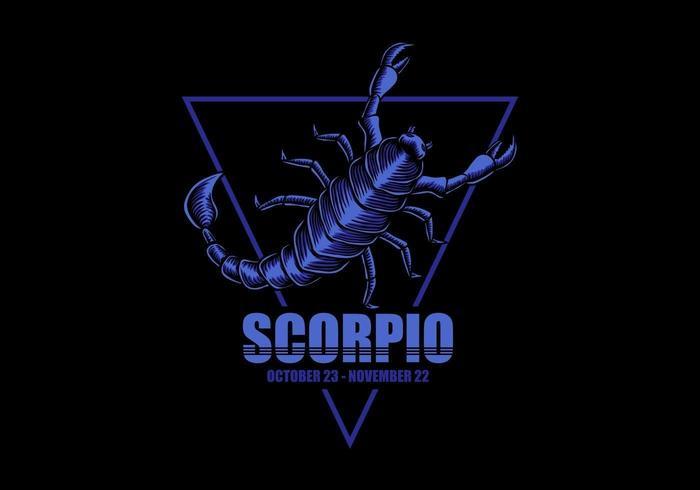 Signe du zodiaque Scorpion vecteur