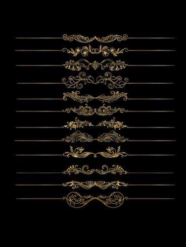 Ornate calligraphic border set