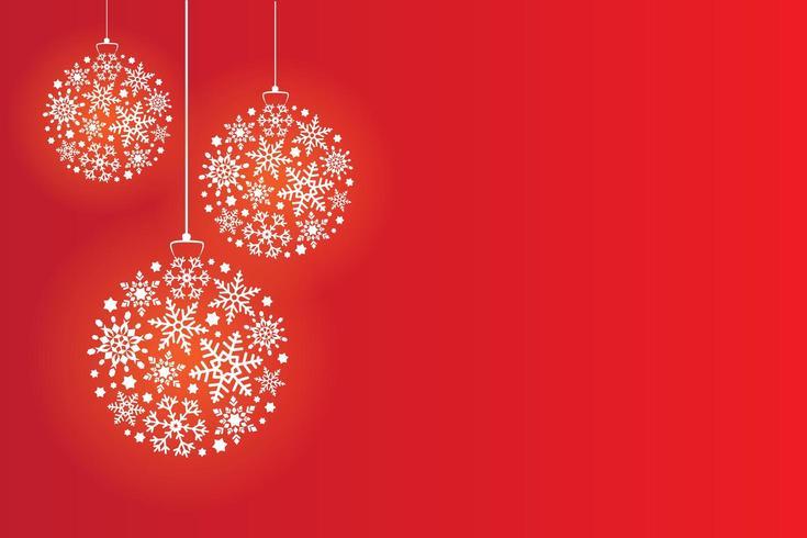 Christmas balls made of snowflakes