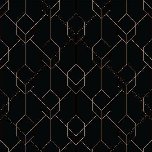 cube seamless art deco geometric pattern