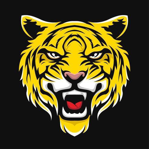 Dessin sport visage de tigre