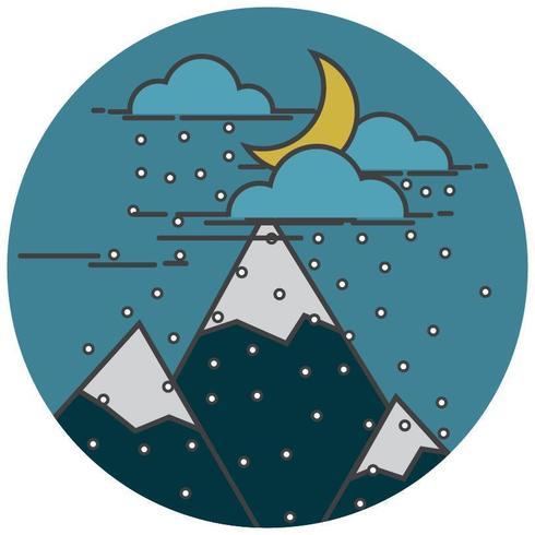 Notte di neve in montagna
