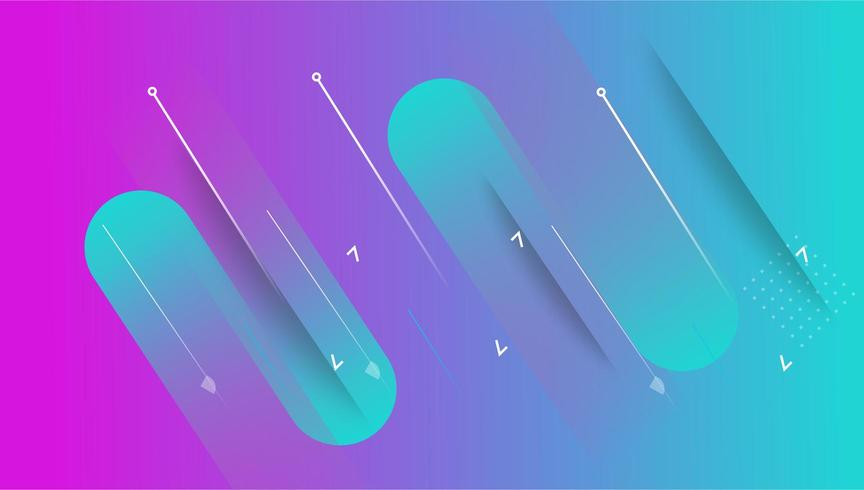 colorful minimal abstract art geometric background