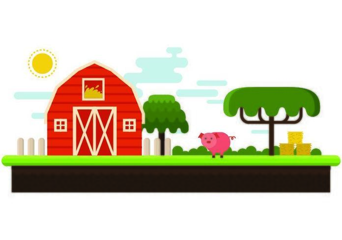 A Beautiful And Small Farm