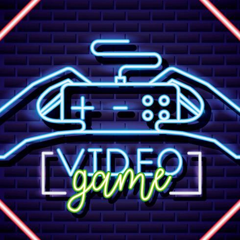 neon video games sign