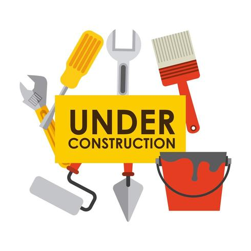 under construction signage  vector
