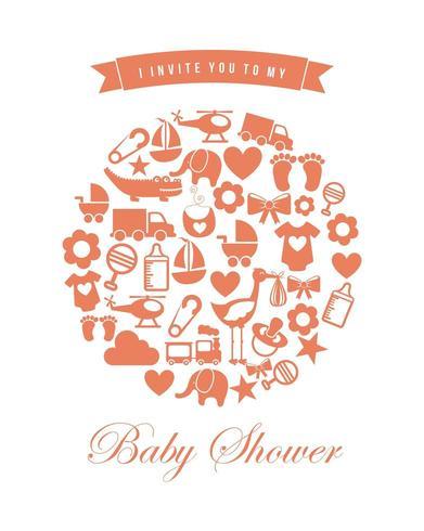 baby shower ikonuppsättning