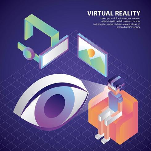 virtual reality isometrisch