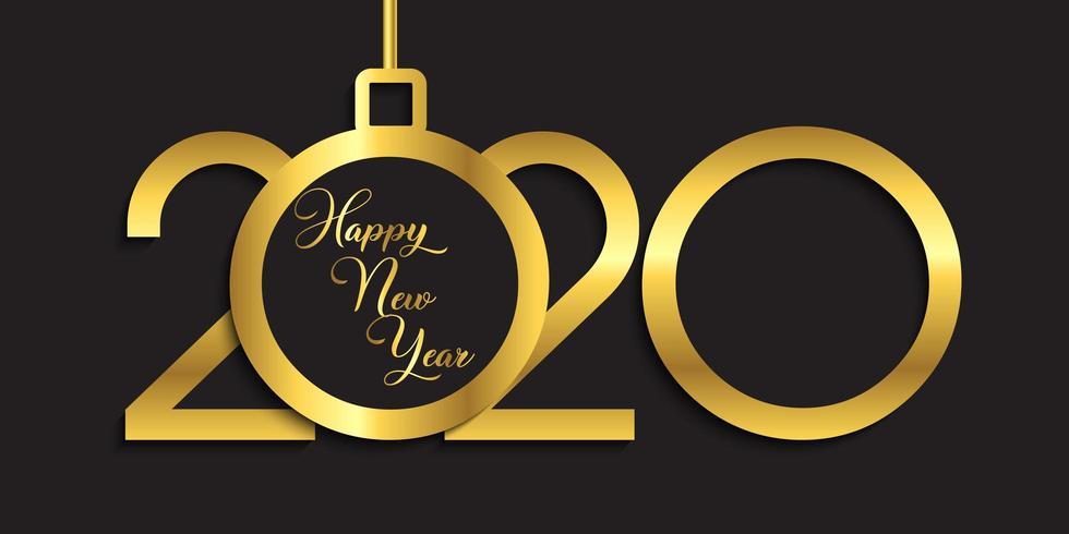 Happy New Year banner design vector
