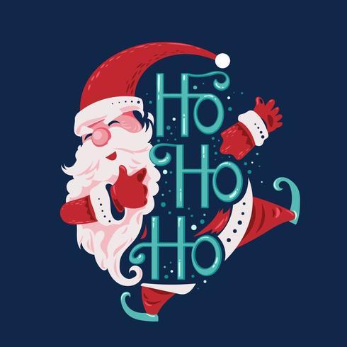 Ho Ho Ho Santa Claus vector