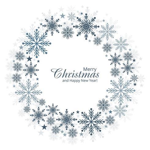 Fondo de tarjeta de copos de nieve de Navidad y año nuevo