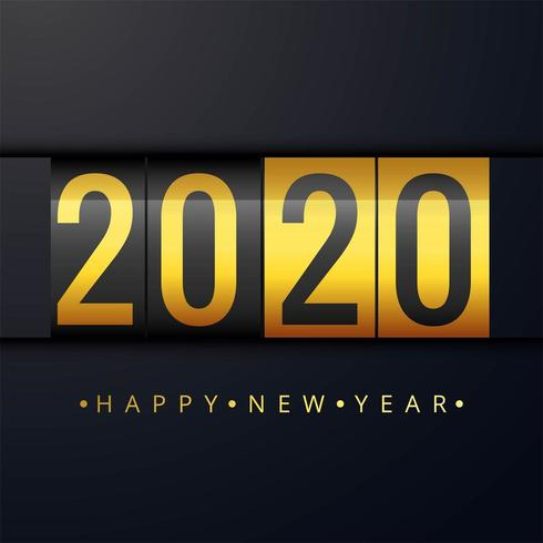 New Year 2020 beautiful card background vector