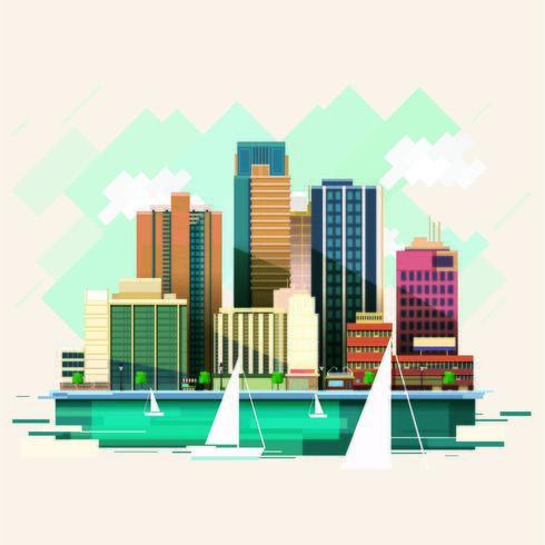 A City Near The Ocean