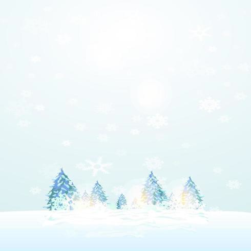 Snowy Day in Winter