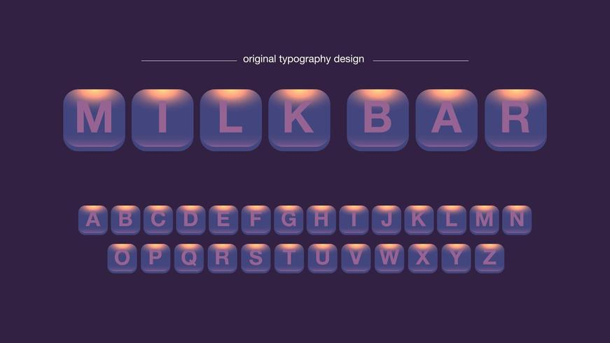 Resumo arredondado quadrado botões tipografia Design