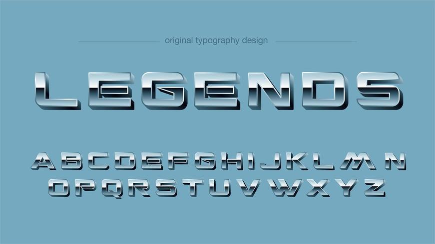 Vintage Chrome-Sport-Versalien-Typografie
