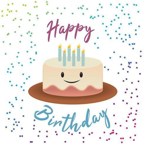 Sonrisa Cute Cake Birthday Design vector