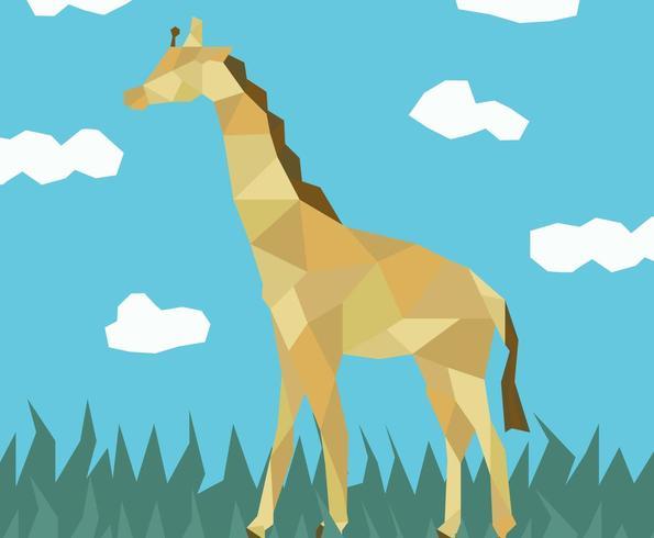 The Giraffe In Jungle