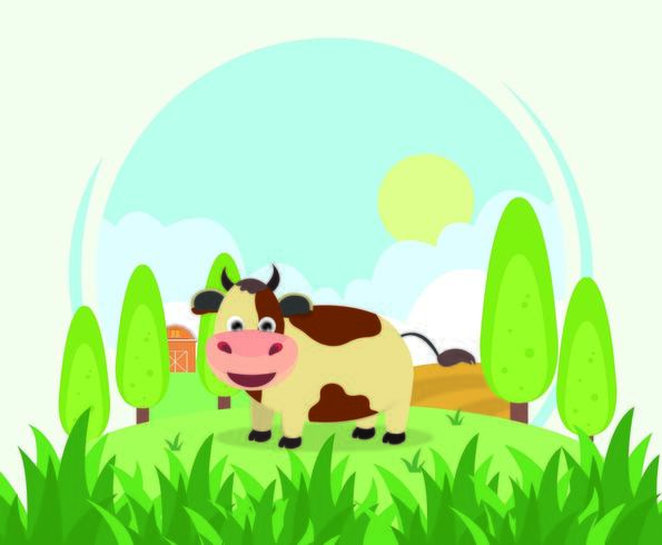 The Cow In A Farm