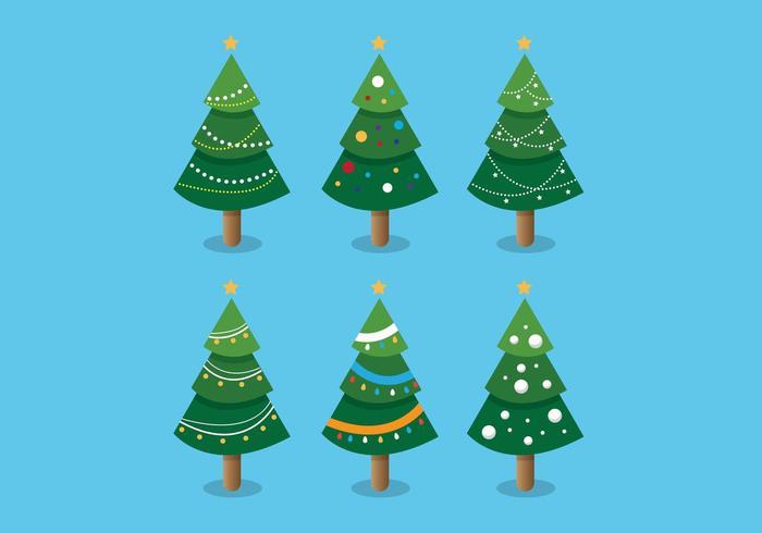 Collection d'arbres de Noël vecteur