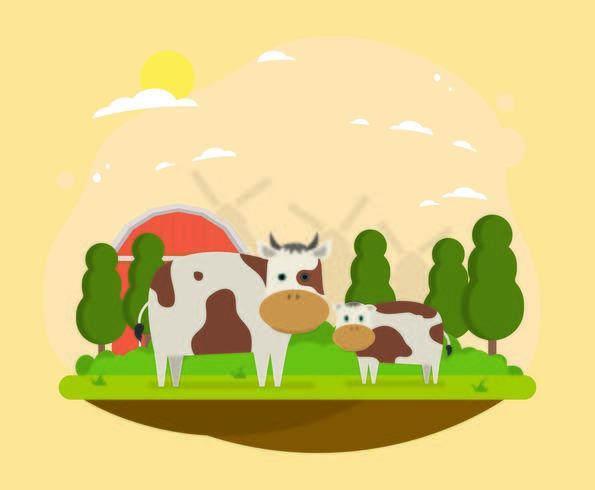 Cows In The Farm