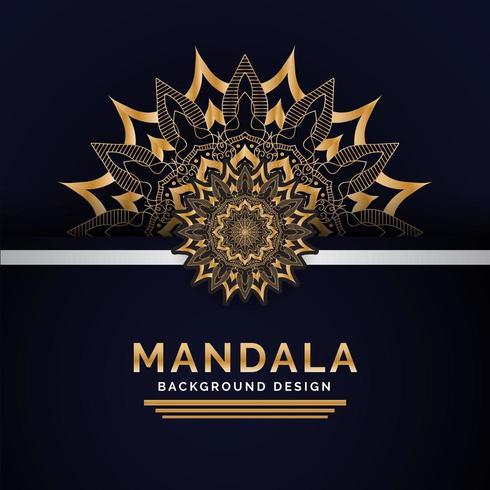 Diseño de fondo de mandala indio de lujo vector