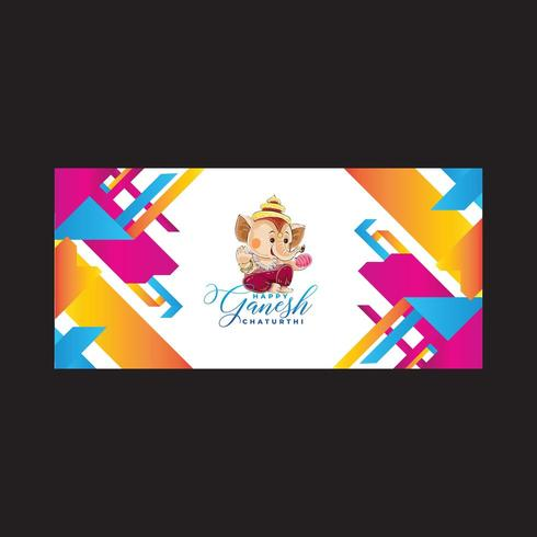 Mixed Color Abstract Background Ganesh