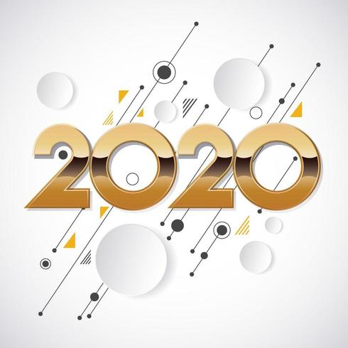 2020 new year creative design  vector