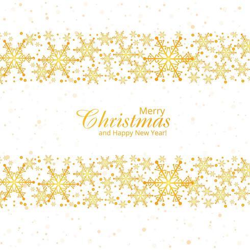 Fondo de invierno con copos de nieve feliz diseño de tarjeta de navidad vector