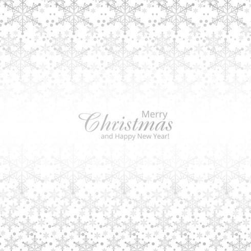 Diseño de tarjeta de feliz navidad copos de nieve vector