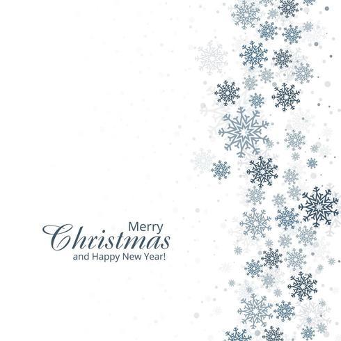 Fondo de invierno con diseño de tarjeta de copos de nieve vector