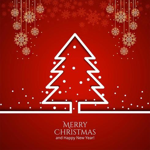 Árbol de Navidad con adornos Fondo de vacaciones