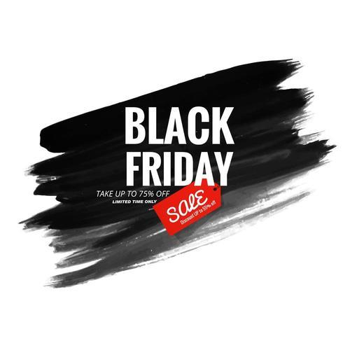 black friday modern sale background vector