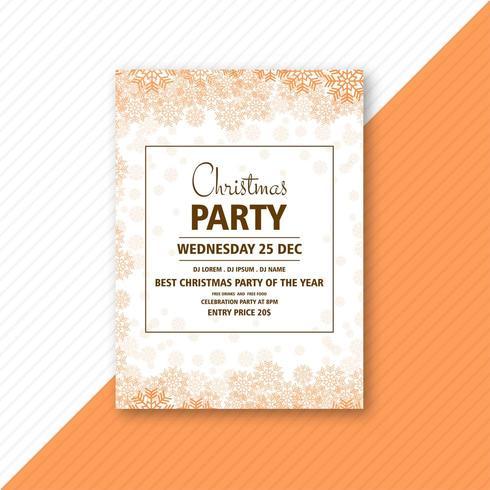 decorative christmas party flyer  vector