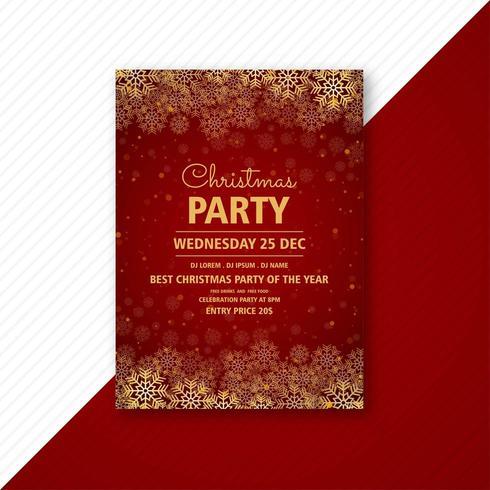 folleto de tarjeta de plantilla de diseño de flyer de fiesta de navidad vector