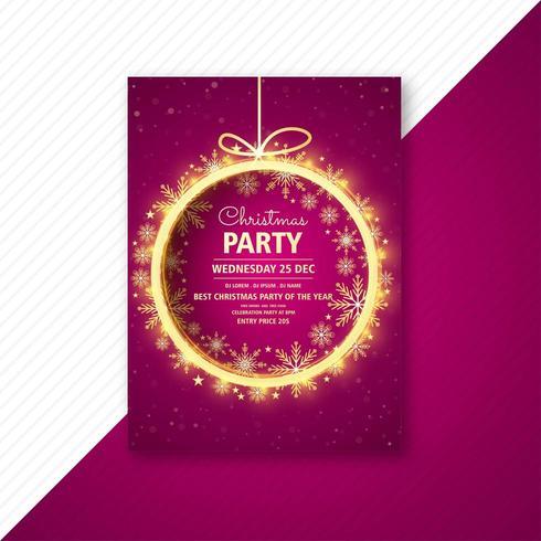 tarjeta de plantilla de diseño de flyer de fiesta de navidad vector