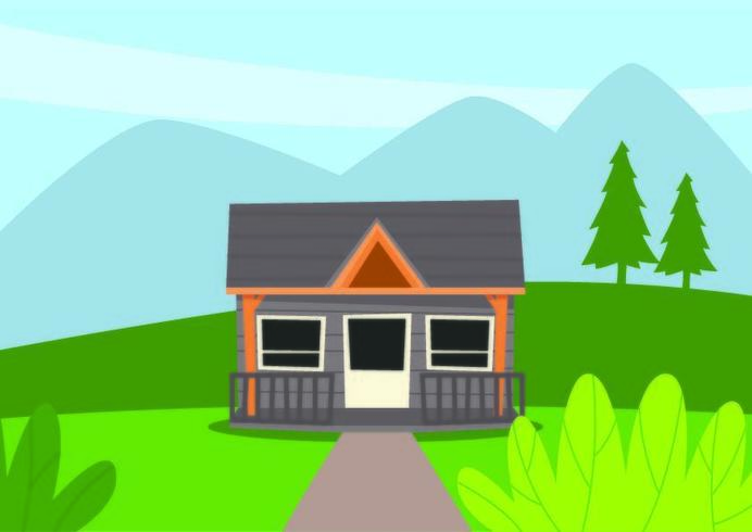 Cartoon House in Country
