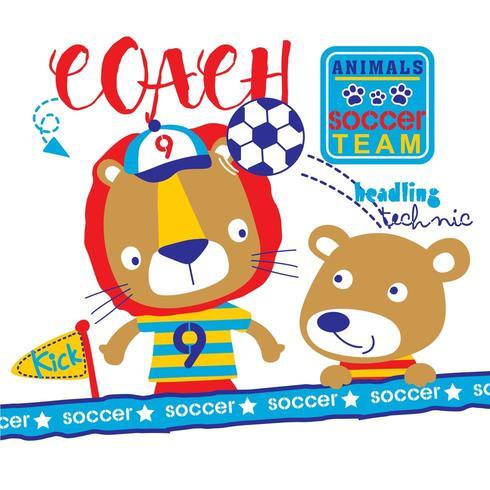 jugador de fútbol y entrenador vector