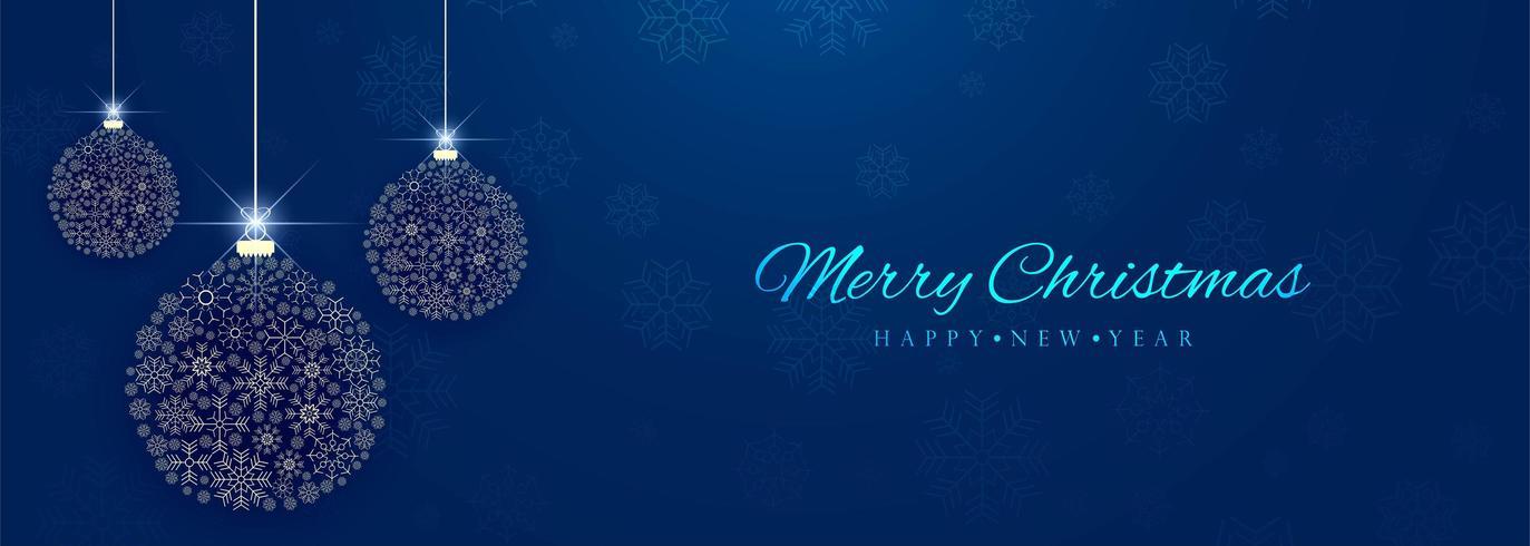 Fondo decorativo hermoso de la bandera de la bola colorida de la Navidad vector