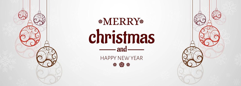 Banner horizontal con fondo de vector de tarjeta de Navidad
