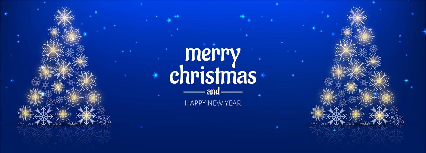 Beautiful merry christmas background banner template design vector