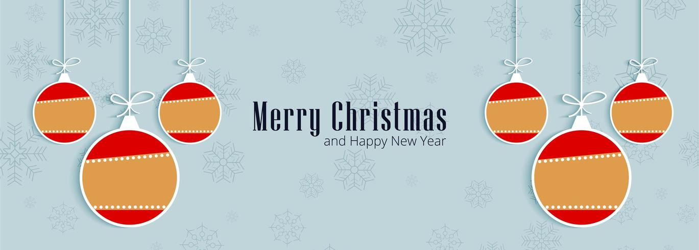 Merry christmas greeting card for banner design vector